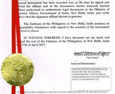 Philippines embassy attestation and Legalization Service in Atgaon   Maharashtra